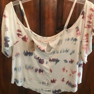 American Eagle Outfitters Tops - American Eagle Off Shoulder Top Size S TAGS